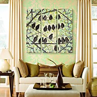 Stretched Canvas Art The BirdS On The Branches Set of 3