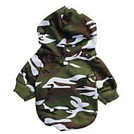 katten / honden Hoodies Groen Hondenkleding Winter / Lente/Herfst camouflage Modieus