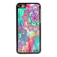 personlig gave elegant flower design metall tilfelle for iphone 5c