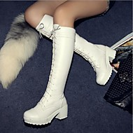 Women's Shoes Round Toe Chunky Heel Knee High Boots More Colors Available
