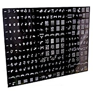 1 Piece 250 Design Big Nail Art Stamp Stamping Image Template Plate/Nail Stencils(Random Pattern)