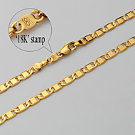 Necklace Gold Necklace Chain Necklace,18K Gold Plated Jewelry Chunky 4mm ,55cm Jewelry Gift for Men Women U7®