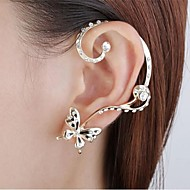 Toonykelly® Fashionable Butterfly with Crystal  Earring Stud with Ear Cuffs