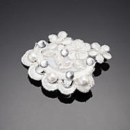 Women's/Flower Girl's Lace/Alloy/Cubic Zirconia Headpiece - Wedding/Special Occasion/Outdoor Barrette