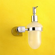 HPB®,Soap Dispenser Chrome Wall Mounted 12*10.8*18.3cm(4.7*4.3*7.2 inch) Brass / Glass Contemporary