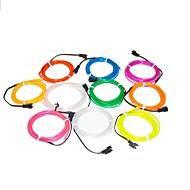 1,6 metro luz de néon flexível brilham 2,3 milímetros diâmetro do fio decorativo el com bateria 2AA
