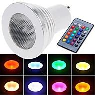 Spot Commandée à Distance RGB E26/E27 3 W 1 LED Haute Puissance 180 LM K AC 85-265 V