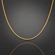 75 centímetros, 4mm, ouro 18k colar de corrente trançado cadeia masculina Figaro, desvanece-se desconfortável jóias