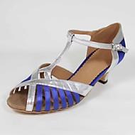 Zapatos de baile (Azul) - Danza latina - Personalizados - Tacón Personalizado