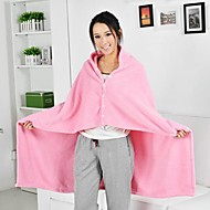 Coral fleece Beige / Black / Pink / Purple,Solid 50% Acrylic/50% Cotton Blankets 100cm x 140cm(39 inch x 55 inch)