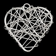 Fashionable Women's Heart-Shaped Wrapped Wire Silvering Pendants (1Pc)