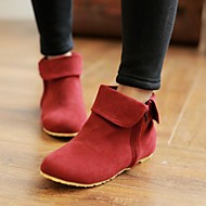 Women's Spring Fall Winter Fashion Boots Dress Flat Heel Zipper Black Green Red Beige