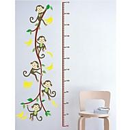 decalque adesivo de parede parede jiubai ™ macaco dos desenhos animados