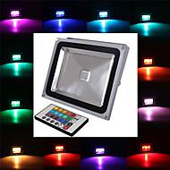방수 30w 2900lm RGB 빛 원격 제어 주도 홍수 램프 (85V-265V)
