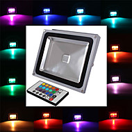 1 Geïntegreerde LED 2900 LM RGB Op afstand bedienbaar LED-schijnwerperlampen AC 85-265 V
