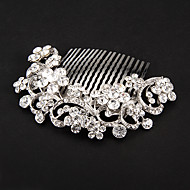 Women's Platinum Headpiece - Wedding/Special Occasion Hair Combs/Flowers