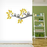 jiubai® karikatura strom a sova zeď nálepka Lepicí obraz na stěnu