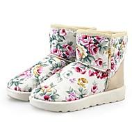 Sort / Blå / Beige - Lav hæl - Kvinders Sko - Snowboots - Syntetisk læder - Hverdag - Støvler
