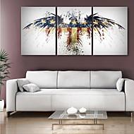 Reproducción en lienzo de arte de la fantasía de American Eagle Juego de 3