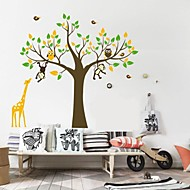 Wall Stickers Wall Decals, Nursery Giraffe Monkey Home Decor PVC Wall Stickers