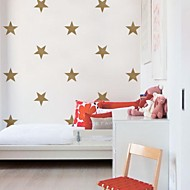 jiubai® guldstjerne wallsticker wallstickers, 15cm / hjerte, 16stars / sæt