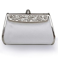 Leather Wedding / Special Occasion Clutches / Evening Handbags with Metal