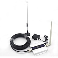 lcd display mini dcs 1800MHz mobiltelefon signal booster signal repeater sucker antenne med 10m kabel 2g 3g 4g
