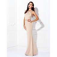 TS Couture Prom Formal Evening Black Tie Gala Dress - Beautiful Back Elegant Sheath / Column Jewel Floor-length Jersey withBeading