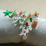 colorfull vločka Vánoční strom prsten ubrousku mnoho barev, Akryl, 4,5 cm, stanovené dne 12.