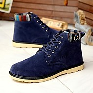 Men's Shoes Outdoor Faux Suede Boots Black/Blue/Brown/Yellow