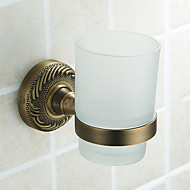 Tooth Brush Holder,Single Cup Antique Brass Color Aluminium Material,Bathroom Accessory