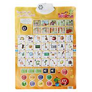 תרשים הלמידה של התינוק בערבית עם נשמע צעצוע חינוכי