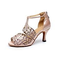 Sapatos de Dança(Preto / Vermelho / Outro) -Feminino-Personalizável-Latina / Dança de Salão