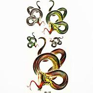 serpiente impermeable tatuaje temporal molde muestra pegatina tatuajes para el arte corporal (18.5cm * 8.5cm)