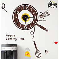 Wall Stickers Wall Decals,  Cartoon Our happy kitchen clock PVC Wall Stickers