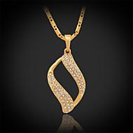 U7®New Luxury Women's Pendant Necklace 18K Gold Platinum Plated Austrian Rhinestone Jewelry Gift for Women