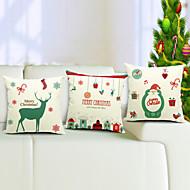 conjunto do Feliz Natal de algodão 3 / linho fronha decorativo