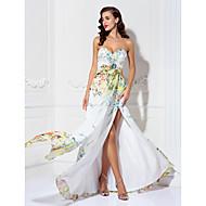 A-line Sweetheart Floor-length Chiffon Evening Dress (927291)