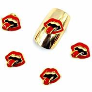 50 stuks 3d sexy lippen glitter halloween party nagels ontwerpen voor acryl nagel tips nail art decoraties