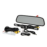 "4.3"" TFT LCD Monitor Car Rear View System Backup Reverse Camera Kit Night Vision"