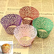12pcs Laser Cut Lace Cupcake Wrappers Liners Muffin Cases Christening Baby Shower Wedding Party Cake Decoartion