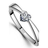 Women's Silver Heart Ring