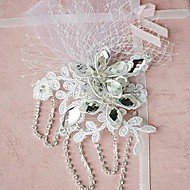 Fleurs Casque Mariage Dentelle/Strass/Tulle Femme Mariage