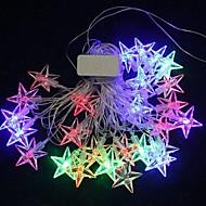 jul stars 4.5m 28 ledet fargerike lys streng