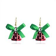 lureme divat karácsonyi bowknot piros kis harang Anez könnyűfém csepp fülbevaló