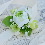 Wedding Flowers Hand-tied Wrist Corsages Wedding / Party/ Evening Cotton / Silk