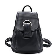 Women Cowhide Casual Backpack Blue / Black