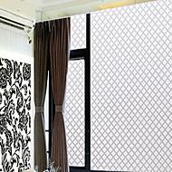 clássico janela losango branco filme domésticos - 0,5 × 5 m (1,64 × 16,4 pés)