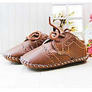 Children's Shoes First Walkers Flat Heel Fashion Sneakers with Lace-up Shoes