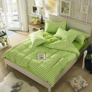 Mingjie weißen und grünen Streifen Schleifbettwäschesätze 4pcs Bettwäsche Sets Bettwäsche china Queen-Size und in voller Größe